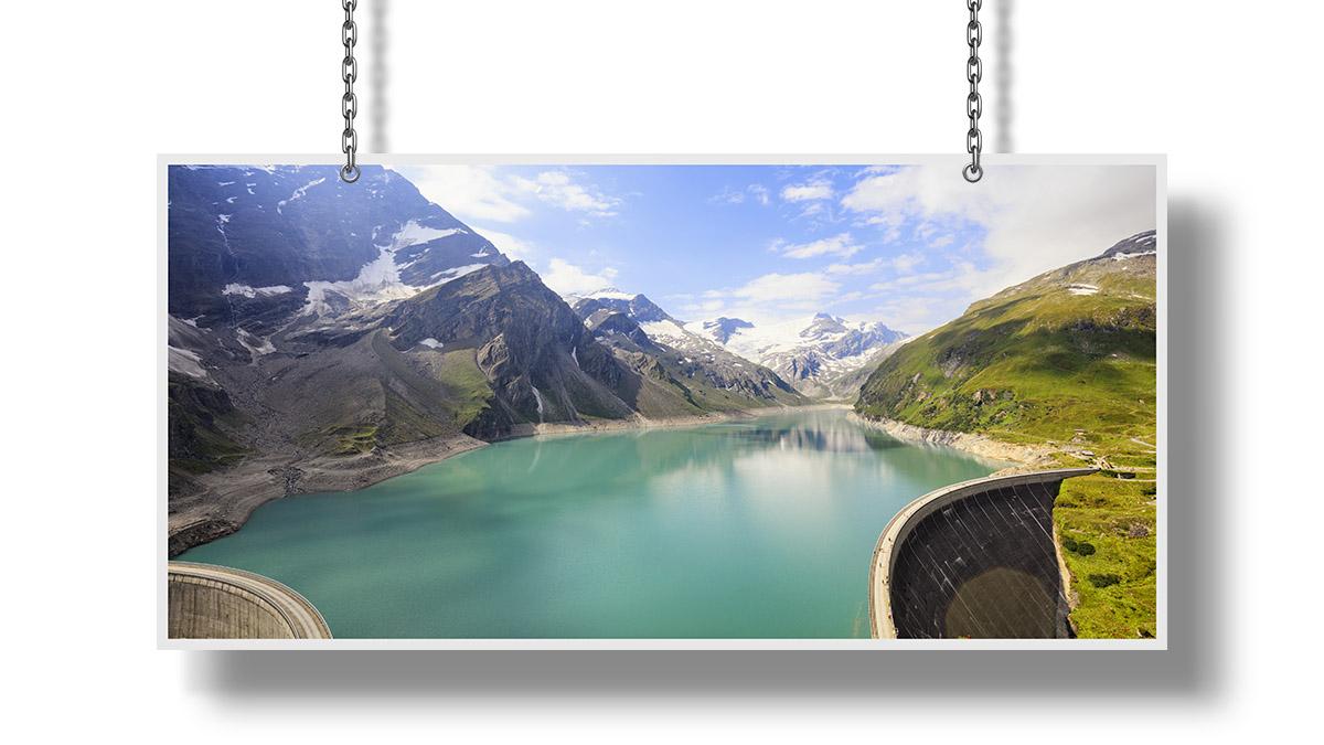 High Alpine Water Storage Reservoirs Photographs